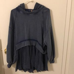 Oversized Free People Lace Sweater